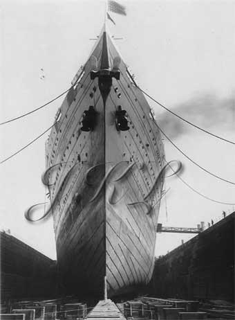 Leviathan Drydock 1924