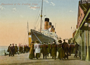 Mauretania Color Image at Landing Stage