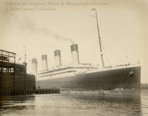 The White Star liner Olympic arrives in New York at the end of her maiden voyage - Library of Congress, P&P Div., J Kent Layton Collection