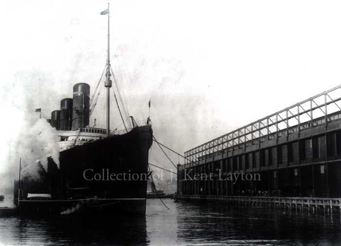 Lusitania at Pier 54