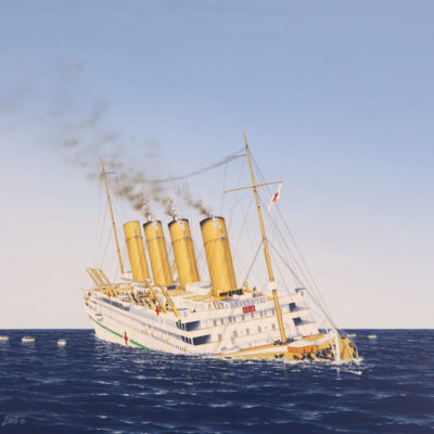 The sinking of the Britannic. (Courtesy Neil Egginton)