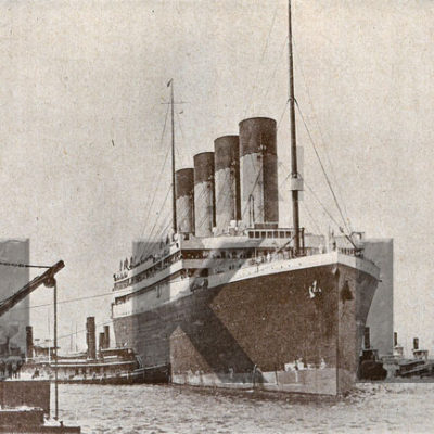 Olympic arriving in New York at the conclusion of her maiden voyage, 21 June 1911. (J. Kent Layton Collection)