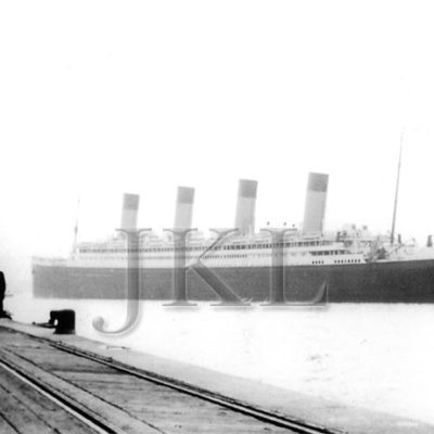 A late career photograph of the Olympic departing Ocean Dock. (J. Kent Layton Collection)