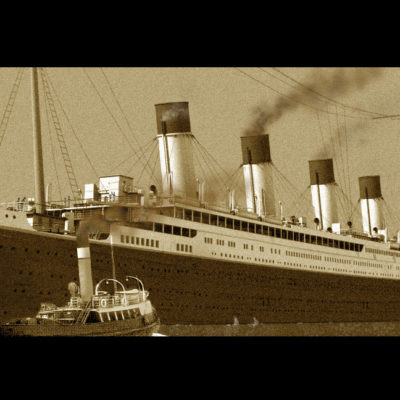 Titanic departs Southampton England on 10 April 1912.